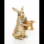 Заяц-подсвечник (14*8*19см)
